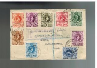 1941 Barclays Bank Swaziland Registered Cover To Usa 27 To 34 photo