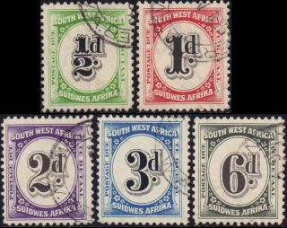 Sw Africa 1931 Dues Sg D47 - 51 photo