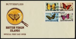 Virgin Islands 342 - 5 Fdc Butterflies photo