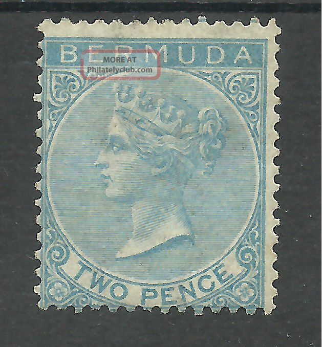 Bermuda Sg4 The 1877 P14 2d Bright Blue Fresh Cat £475 British Colonies & Territories photo