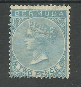 Bermuda Sg4 The 1877 P14 2d Bright Blue Fresh Cat £475 photo