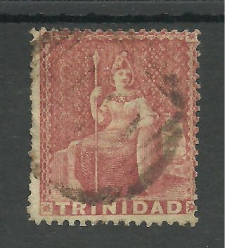 Trinidad Sg46 The 1860 (1d) Rose Red Fine Cat £55,  See Scan photo