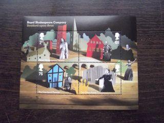 Ms3179 2011 Royal Shakespeare Company Royal Mail Miniature Sheet Um photo