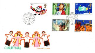 18 November 1981 Christmas Philart First Day Cover House Of Commons Sw1 Cds photo