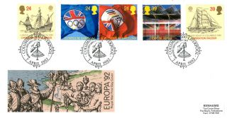 7 April 1992 Europa Royal Mail First Day Cover Columbus 500 Liverpool Shs photo