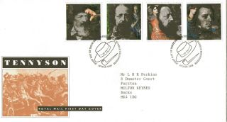 10 March 1992 Tennyson Royal Mail First Day Cover Bureau Shs (a) photo