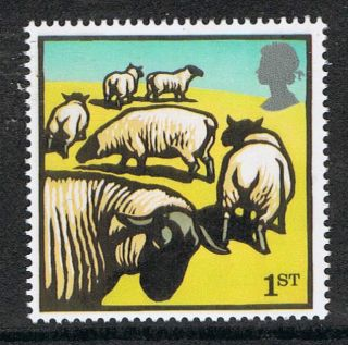 Suffolk Sheep Illustrated On 2005 British Stamp - Nh photo