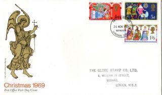 26 November 1969 Christmas Post Office First Day Cover Better Bethlehem Fdi (b) photo