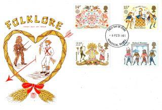 6 February 1981 Folklore Stuart First Day Cover Windsor Berks Fdi photo