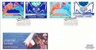 3 May 1994 Channel Tunnel Royal Mail First Day Cover Le Shuttle Folkestone Shs photo