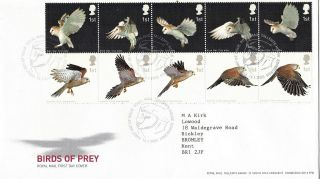 14 January 2003 Birds Of Prey Royal Mail First Day Cover Shs photo