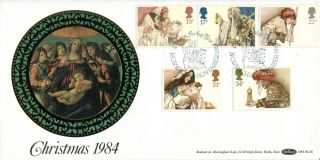 20 November 1984 Christmas Benham Bls 6 Le First Day Cover Norwich Shs photo