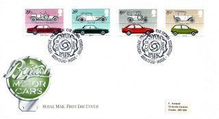 13 October 1982 British Motor Cars Royal Mail First Day Cover Syon Park Shs photo
