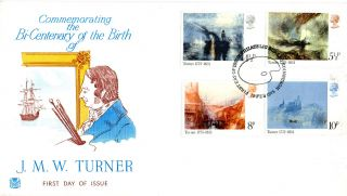 19 February 1975 Turner British Paintings Stuart First Day Cover Bureau Shs photo