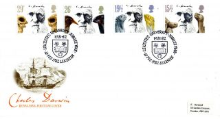 10 February 1982 Charles Darwin Royal Mail First Day Cover Leicester University photo