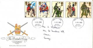 6 July 1983 British Army Royal Mail First Day Cover Hastings Fdi photo