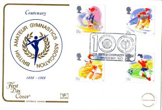 22 March 1988 Sport Cotswold First Day Cover 100 Aaa Gymnastics Slough Shs photo