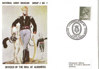 1971 National Army Museum Officer Of The 60th At Albuhera Commemorati Cover Shs photo
