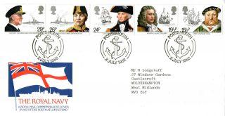 2 July 1982 South Atlantic Fund Falkland Islands War Cover Portsmouth Shs photo