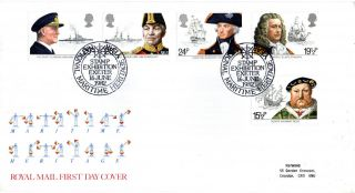 16 June 1982 Maritime Heritage Royal Mail First Day Cover Exeter Stamp Exhib Shs photo