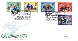 21 November 1979 Christmas First Day Cover After The Ball Blackpool Shs photo