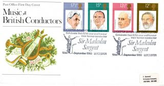 10 September 1980 Famous Conductors Po First Day Cover Leicester So Shs photo