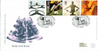 3 October 2000 Body And Bone Royal Mail First Day Cover Aquae Sulis Bath Shs photo