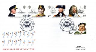 16 June 1982 Maritime Heritage Royal Mail First Day Cover Leicester Sea Cadets photo