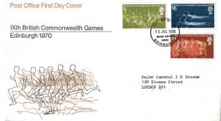 15 July 1970 Commonwealth Games Post Office First Day Cover Bureau Fdi photo
