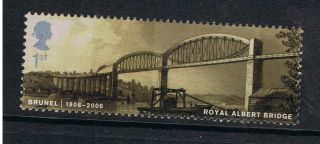 Brunel Royal Albert Bridge Illustrated On 2006 British Stamp - Nh photo