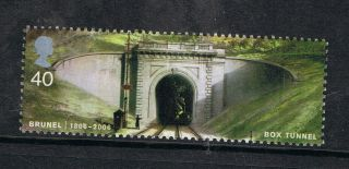 Brunel Box Tunnel Box Hill Wiltshire Illustrated On 2006 British Stamp Nh photo