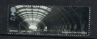 Brunel - Paddington Station Illustrated On 2006 British Stamp - Nh photo