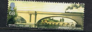 Brunel - Maidenhead Railway Bridge Illustrated On 2006 British Stamp - Nh photo