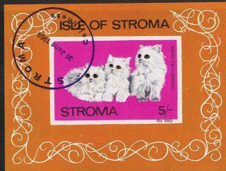 Isle Of Stroma 1969 Orange Eyed Cat Mini - Sheet photo