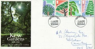 5 June 1990 Kew Gardens Royal Mail First Day Cover Coventry Fdi photo