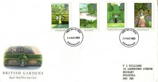 24 August 1983 British Gardens Royal Mail First Day Cover Birmingham Fdi (b) photo
