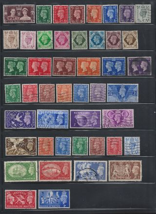 Gb Kgvi 1936 - 1952 - Sg 462 To 514 - - Multiple Listing - Choose From List photo