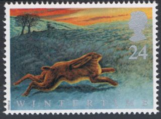 Hare On Yorkshire Moors Illustrated On 1992 British Stamp - Nh photo