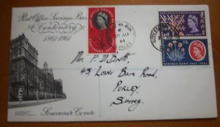 1961 Savings Bank Centenary - Illustrated First Day Cover Cds Postmarked photo