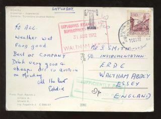 Postage Due Gb Slovenia 1972 Ppc. . .  Erde Waltham Abbey photo
