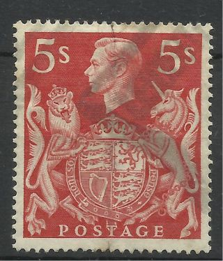 1939 - 48 Sg 477 5/ - Red,  Good. photo