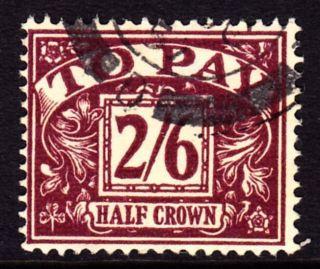 Sg D54 1957 2/6d Purple/yellow Postage Due London Se 1cds photo