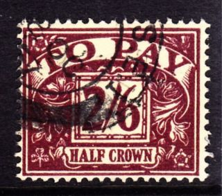 Sg D54 1957 2/6d Purple/yellow Postage Due London Se 1 Cds photo