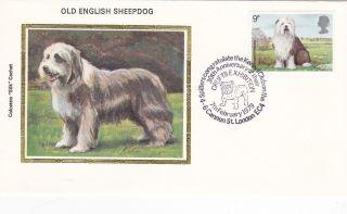 United Kingdom 9p Old English Sheepdog 1979 Fdc / Colorano photo