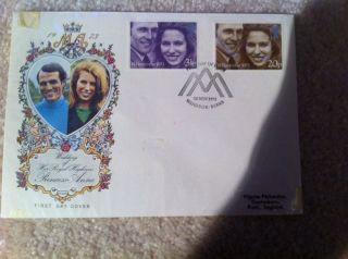 Great Britain 1973 Princess Anne Mark Phillips Fdc Windsor Berks Royal Wedding photo