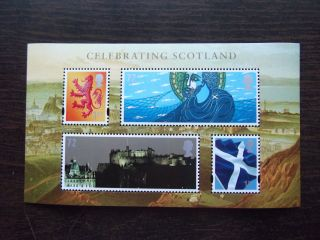Mss153 2006 Celebrating Scotland Royal Mail Miniature Sheet Um photo