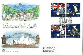 21 June 1988 Australian Bicentenary Stuart First Day Cover Portsmouth Shs photo
