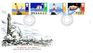 18 June 1985 Safety At Sea Royal Mail First Day Cover Eastbourne E Sussex Shs photo