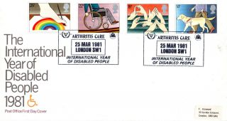 25 March 1981 Year Of Disabled People Po First Day Cover Arthritis Care Shs photo
