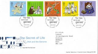 25 February 2003 The Secret Of Life Dna Royal Mail First Day Cover Shs photo